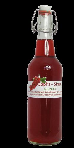 <p>Dieser rote, s&uuml;ss-s&auml;uerliche Beerensaft erfrischt und l&auml;sst den Sommer&nbsp; neu aufleben, wenn wir nach dem Schneeschaufeln in die warme Stube kommen. Ein Hochgenuss zu jeder Zeit.</p>
