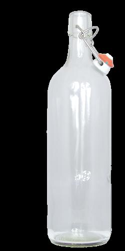 <h2>1 Liter Kurzhalsflasche mit B&uuml;gelverschluss</h2> <p>Universell einsetzbar und&nbsp;exklusiv in der Form,</p> <p>1.0 l weisse B&uuml;gelverschlussflasche f&uuml;r vielf&auml;ltigen Einsatz. Gut geeignet als Sirupflasche, Saftflasche, Schnaps auch f&uuml;r Most einsetzbar.<br /> <br /> Abmessungen:<br /> H&ouml;he in mm: 302.0<br /> Durchmesser in mm: 70.7<br /> Gewicht in g: 580<br /> F&uuml;llvolumen in cl 100<br /> Farbe: Klarglas<br /> Lieferung INKLUSIVE B&uuml;gelverschluss</p> <p>Lieferzeit: Vorr&auml;tig</p>