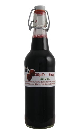 Kirschen Sirup (dunkel) von sirup.li