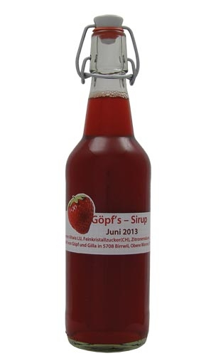 Erdbeeren Sirup von sirup.li