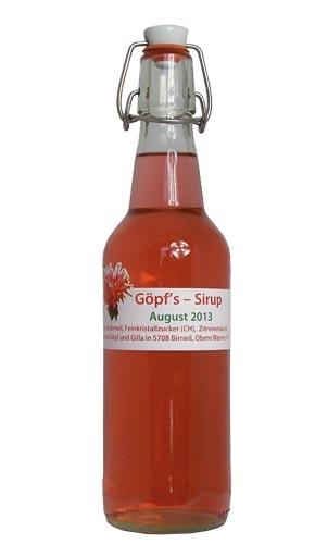 Goldmelissen-Sirup (rot) von sirup.li
